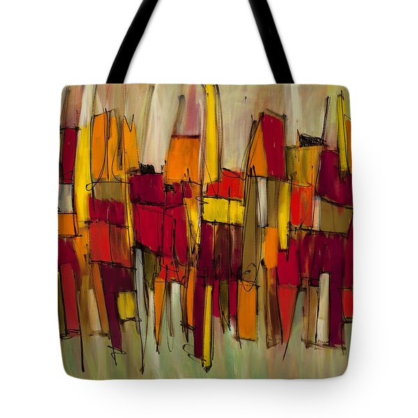 Sound And Fury Three Tote Bag by Lynne Taetzsch