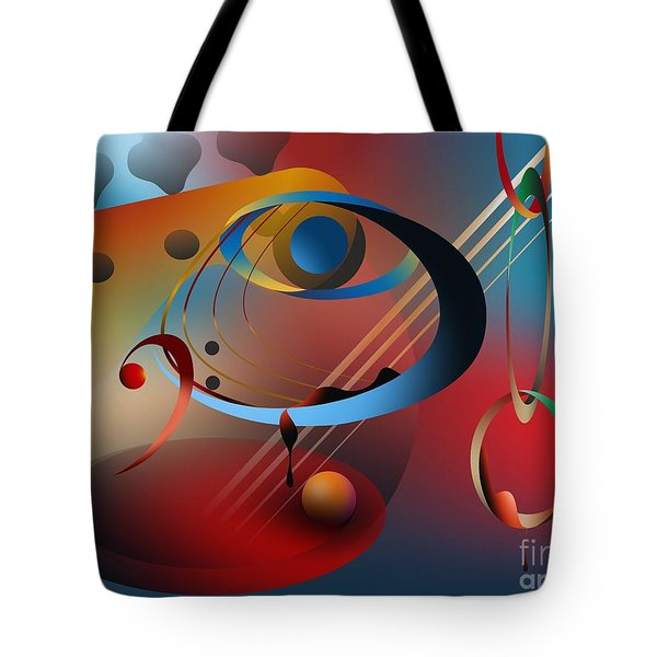 Sound Of Bass Guitar Tote Bag by Leo Symon