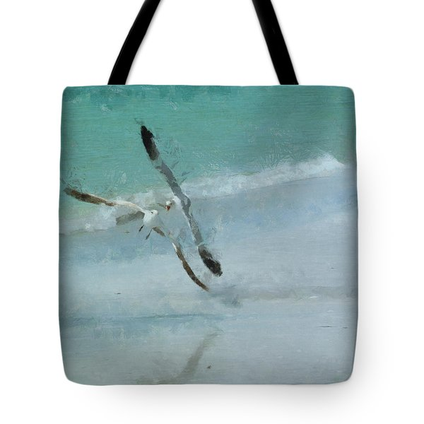 Sound Of Seagulls Tote Bag by Claire Bull
