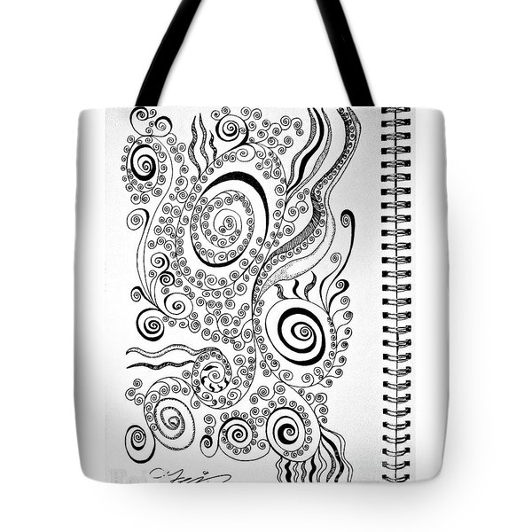 Sound Of The Lines Tote Bag