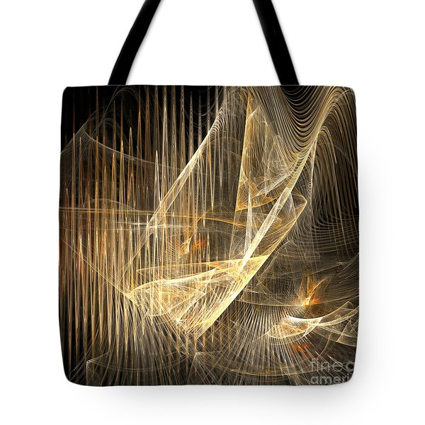 Sound Waves In 3d Tote Bag