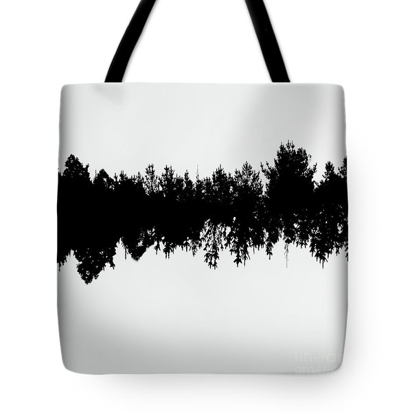 Sound Waves Made Of Trees Reflected Tote Bag