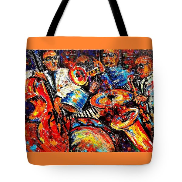 Sounds Of Jazz Tote Bag