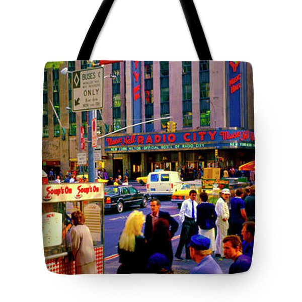 Tote Bag featuring the photograph Soups On Radio City Music Hall  by Tom Jelen