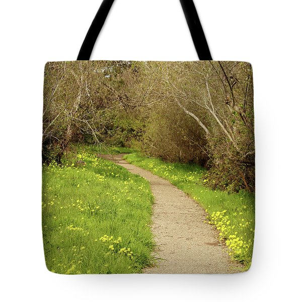 Tote Bag featuring the photograph Sour Grass Trail by Art Block Collections