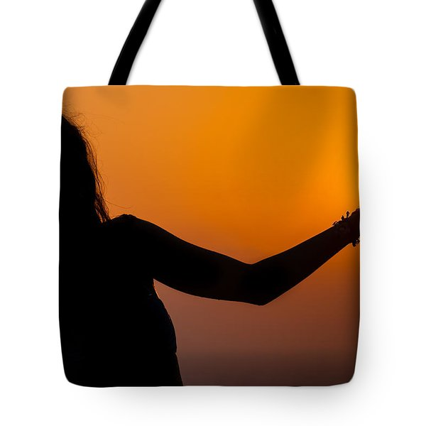 Source Of Life In Her Palm Tote Bag