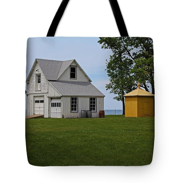 South Bass Island Lighthouse Barn And Oil Storage Building I Tote Bag