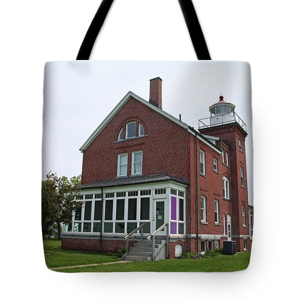 South Bass Island Lighthouse- Horizontal Tote Bag