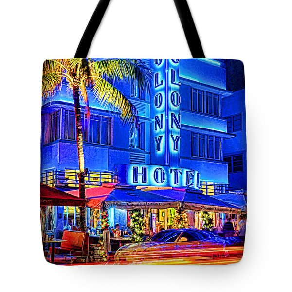 South Beach Art Deco Tote Bag by Dennis Cox WorldViews