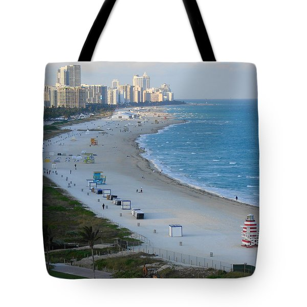 South Beach At Its Best Tote Bag by Margaret Bobb