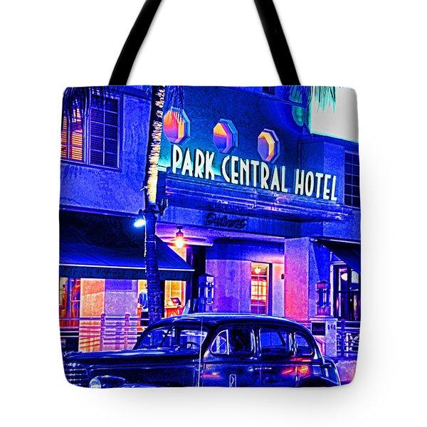South Beach Hotel Tote Bag by Dennis Cox WorldViews