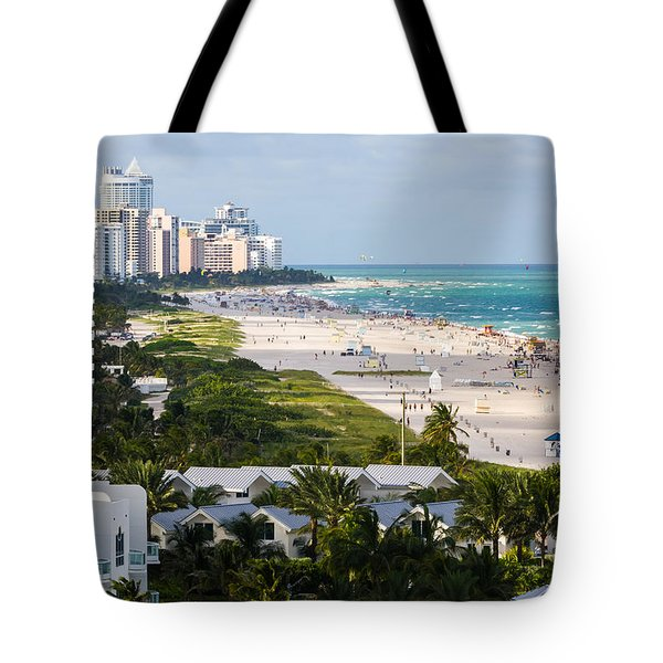 South Beach Late Afternoon Tote Bag by Ed Gleichman