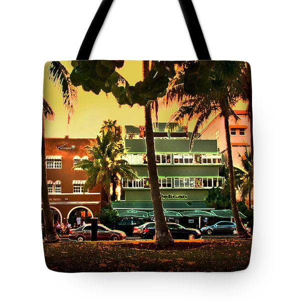South Beach Ocean Drive Tote Bag