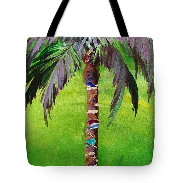 South Beach Palm IIi Tote Bag by Kristen Abrahamson