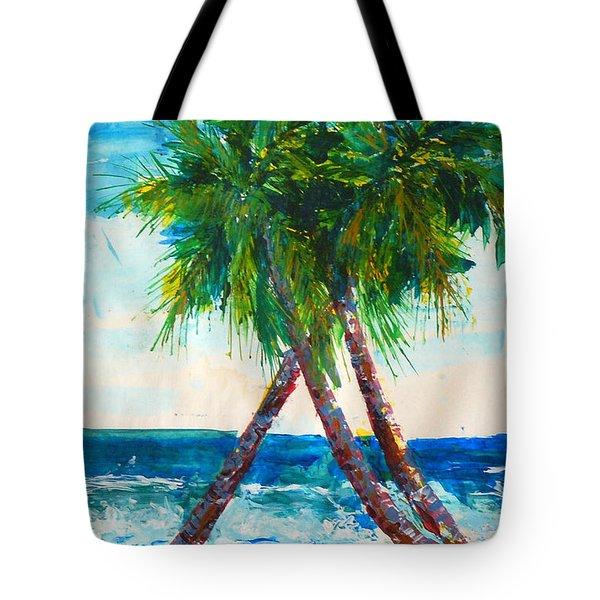 South Beach Palms Tote Bag