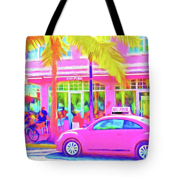 South Beach Pink Tote Bag by Dennis Cox WorldViews