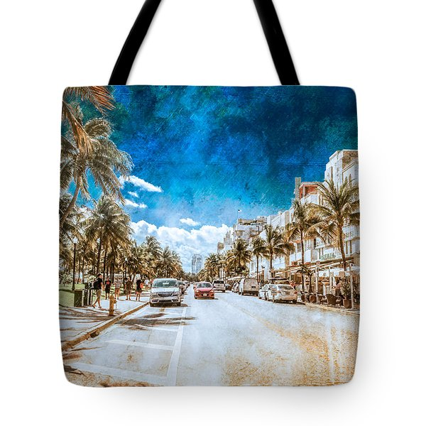 South Beach Road Tote Bag
