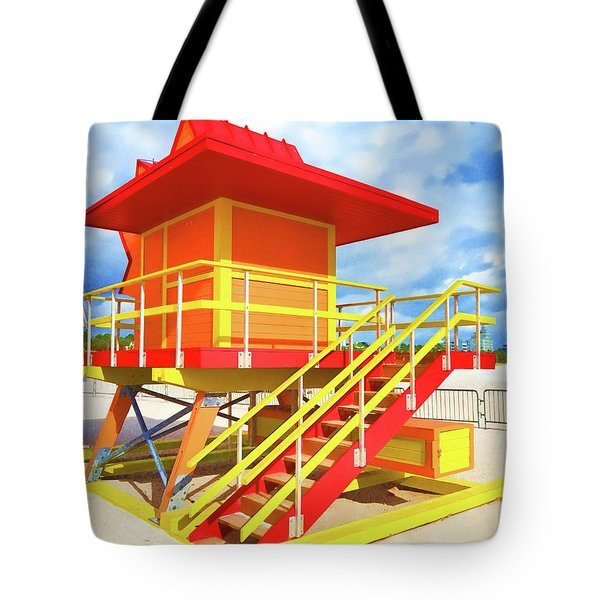 South Beach Station Tote Bag by Dennis Cox WorldViews