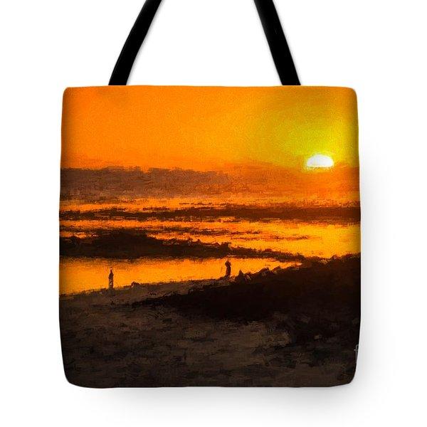 South Beach Sunset    Rvr Tote Bag