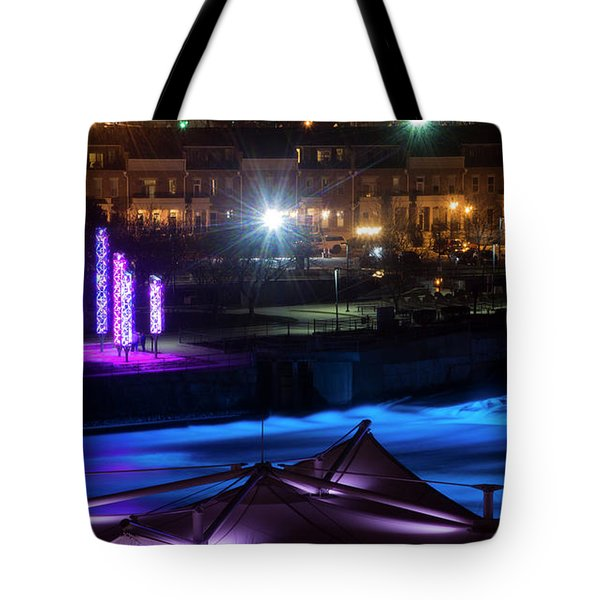 South Bend River Night Tote Bag