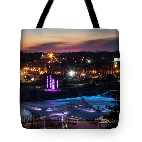 South Bend River Sunrise Tote Bag
