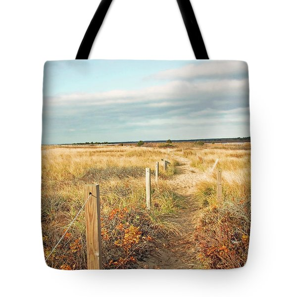 South Cape Beach Trail Tote Bag by Brooke T Ryan