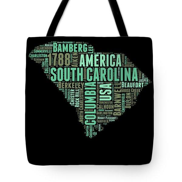 South Carolina Word Cloud 2 Tote Bag