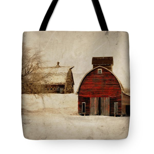 South Dakota Corn Crib Tote Bag by Julie Hamilton