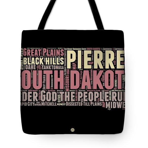 South Dakota Word Cloud 2 Tote Bag