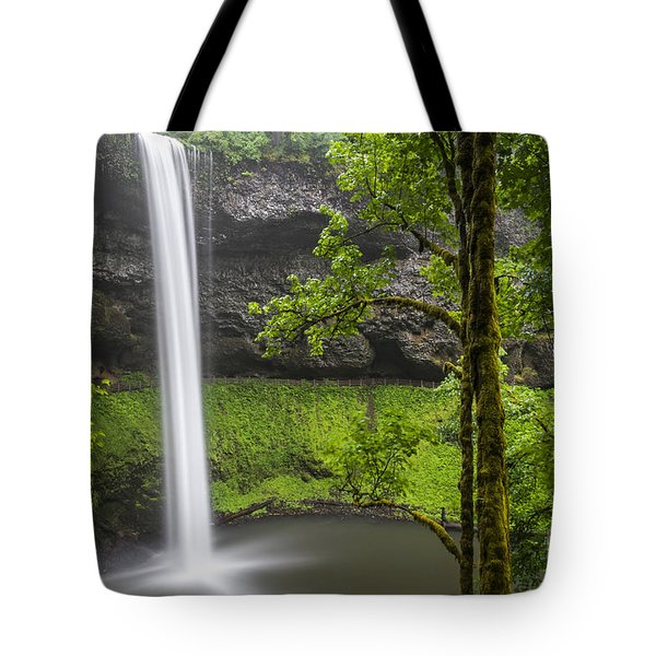 Tote Bag featuring the photograph South Falls In Silver Falls State Park by Bryan Mullennix