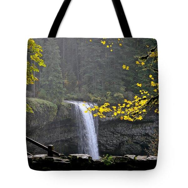South Falls Of Silver Creek Tote Bag