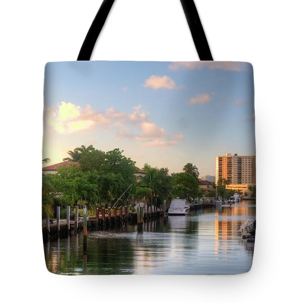 South Florida Canal Living Tote Bag