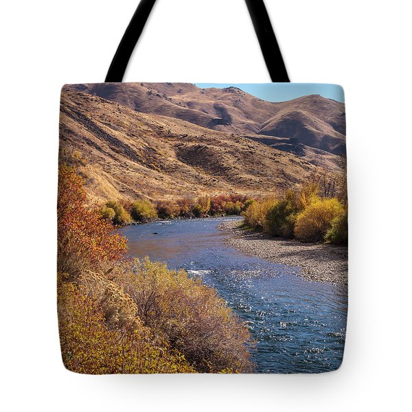 Tote Bag featuring the photograph South Fork In Autumn by Mark Mille