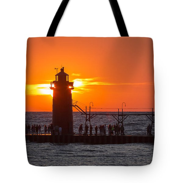South Haven Michigan Sunset Tote Bag