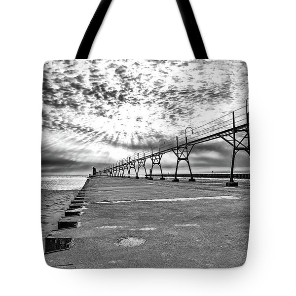 South Haven Pier Wide Angle Tote Bag