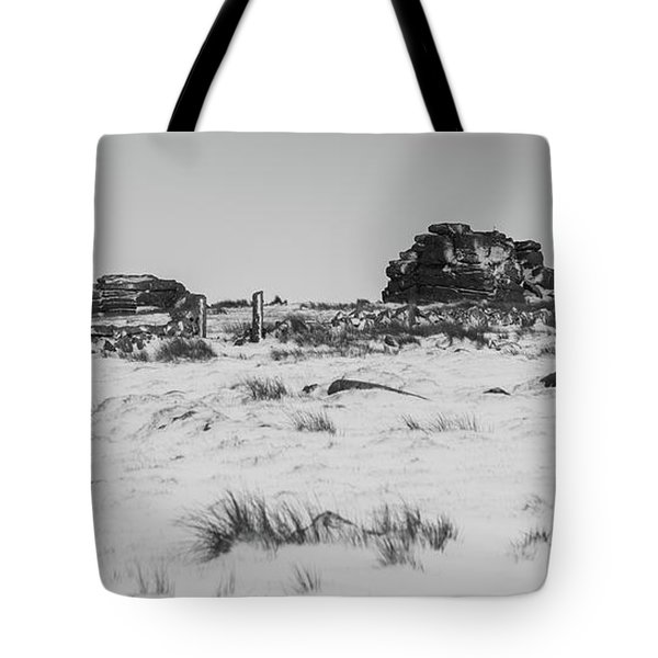 South Hessary Tor In The Snow Tote Bag