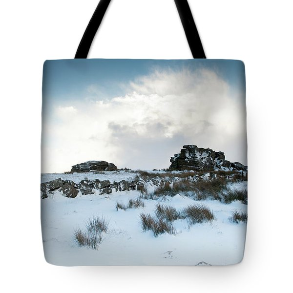 South Hessary Tor In The Snow II Tote Bag