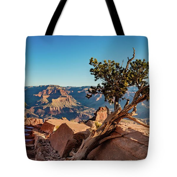 Tote Bag featuring the photograph South Kaibab Grand Canyon by Phil Abrams