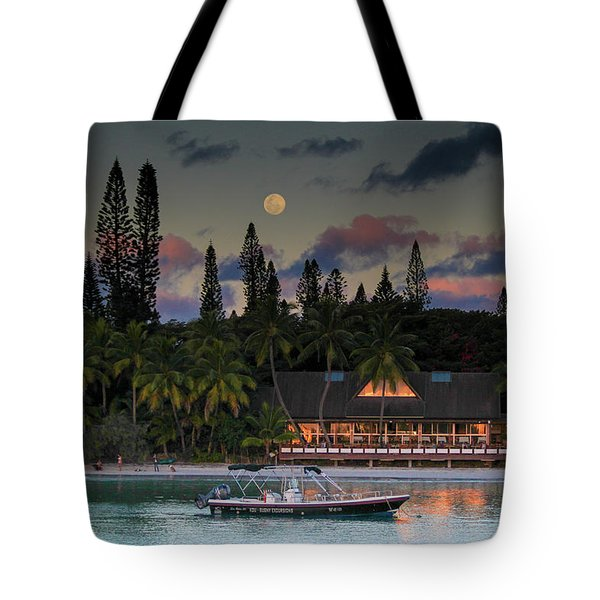 South Pacific Moonrise Tote Bag