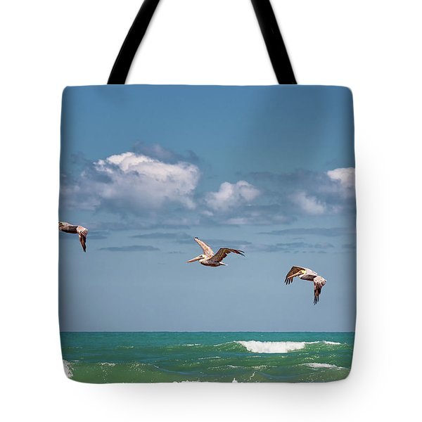 South Padre Island Pelicans Tote Bag
