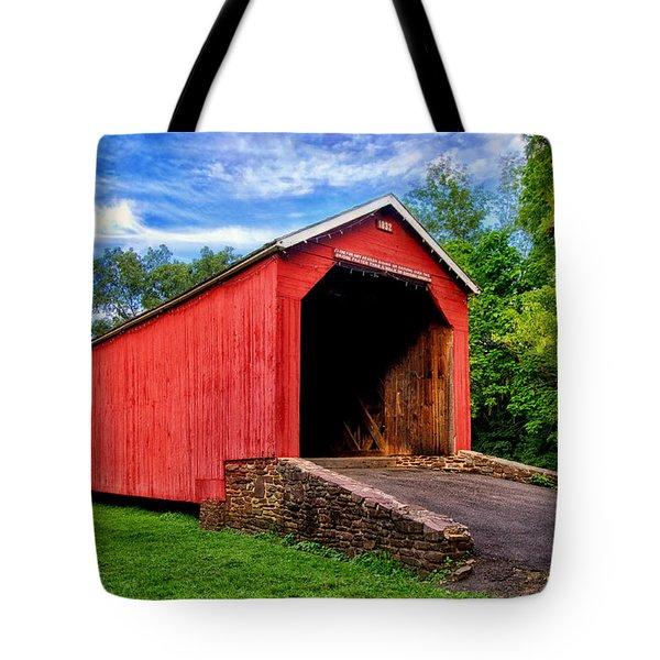 South Perkasie Covered Bridge Tote Bag