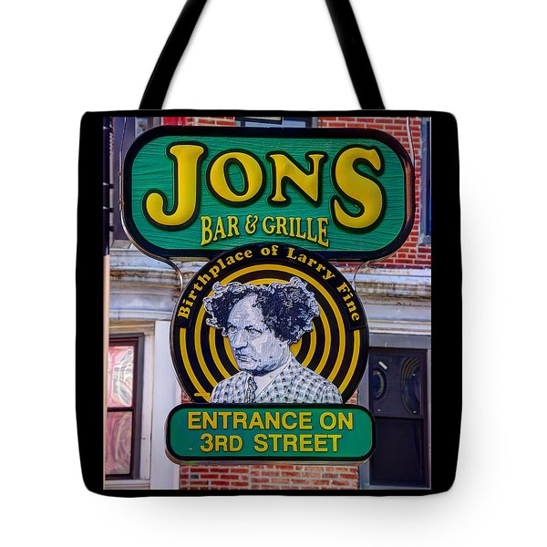 South Philly Skyline - Birthplace Of Larry Fine Near Jon's Bar And Grille-a - Third And South Street Tote Bag