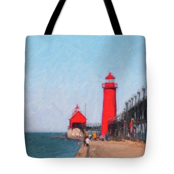 South Pier Of Grand Haven Tote Bag