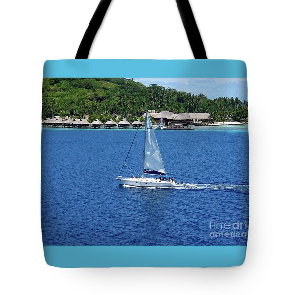 Tote Bag featuring the photograph South Sea Sail by Phyllis Kaltenbach