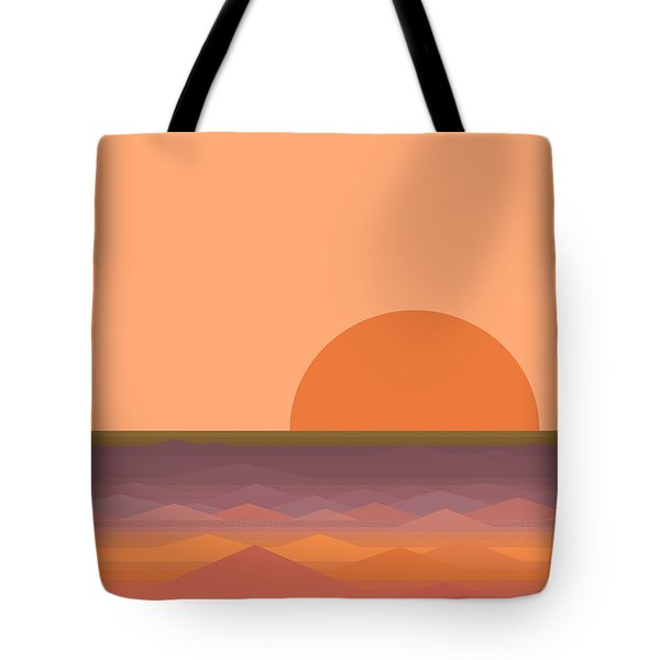 Tote Bag featuring the digital art South Sea Sunrise by Val Arie