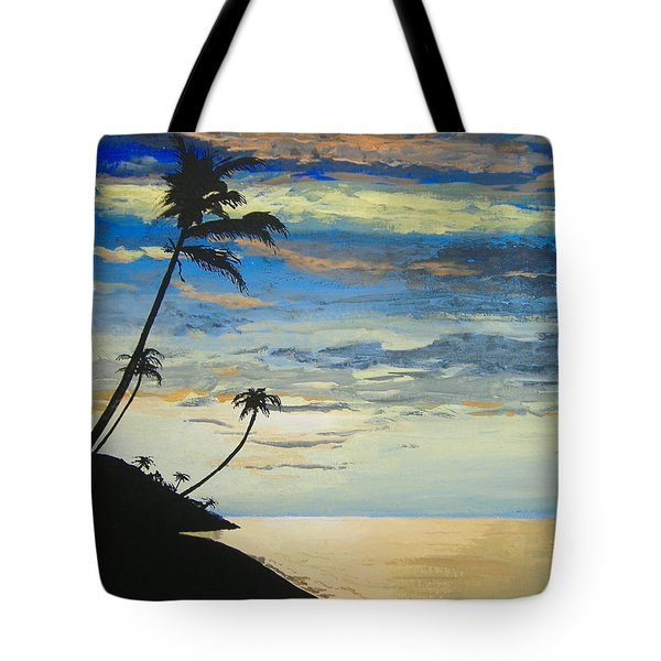 Tote Bag featuring the painting South Sea Sunset by Norm Starks