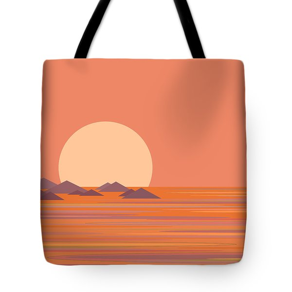 Tote Bag featuring the digital art South Sea by Val Arie