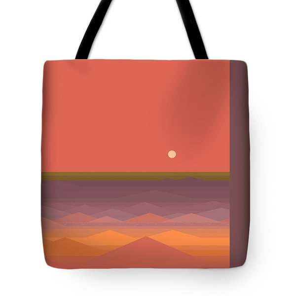 Tote Bag featuring the digital art South Seas Abstract by Val Arie