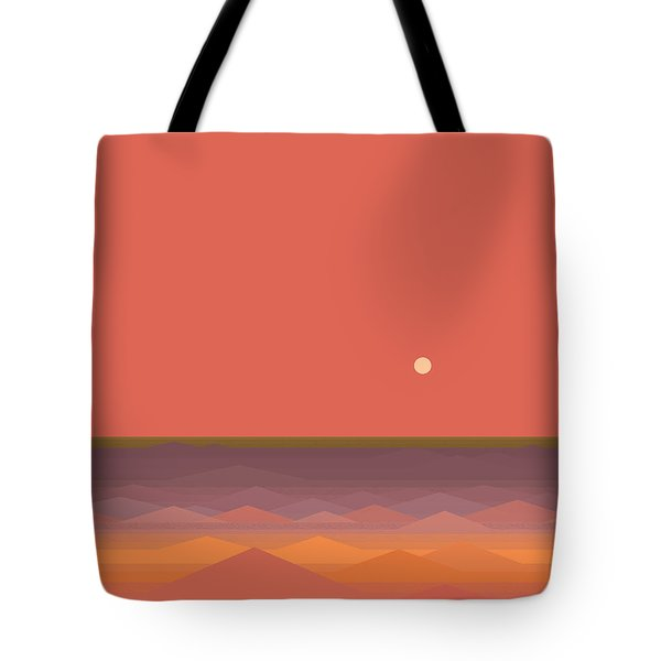 Tote Bag featuring the digital art South Seas Abstract - Vertical by Val Arie
