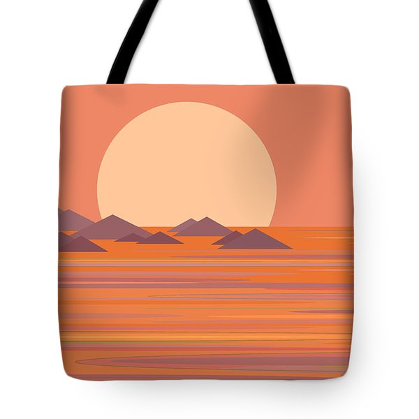 Tote Bag featuring the digital art South Seas by Val Arie